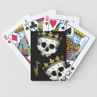Skeleton King Skulls Playing Cards