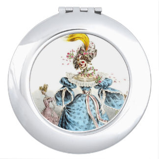 Skeleton Lady compact mirror