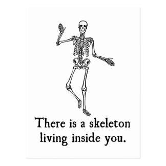 Skeleton Living Inside You Postcard