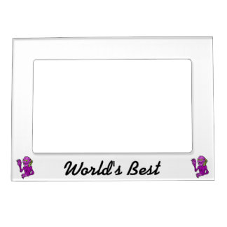 Skeleton looking alien robot purple.png magnetic picture frame