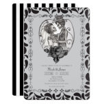 🎃  Skeleton Love Couple Marriage Dance Gothic Wedding Invitation