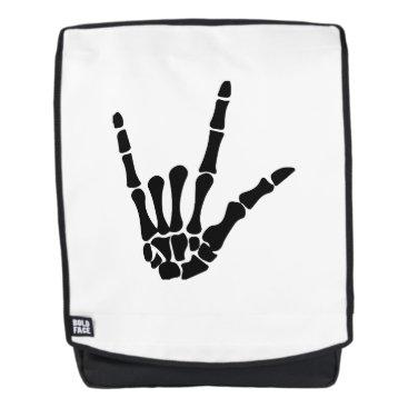 Halloween Themed Skeleton Love Hand Halloween Funny Gift Backpack