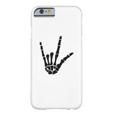 Halloween Themed Skeleton Love Hand Halloween Funny Gift Barely There iPhone 6 Case
