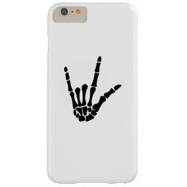 Halloween Themed Skeleton Love Hand Halloween Funny Gift Barely There iPhone 6 Plus Case