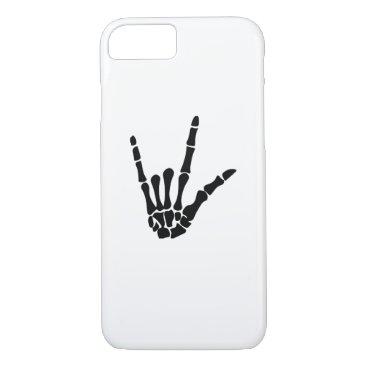 Halloween Themed Skeleton Love Hand Halloween Funny Gift iPhone 8/7 Case