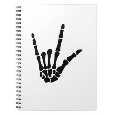 Halloween Themed Skeleton Love Hand Halloween Funny Gift Notebook