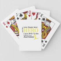 Skeleton Love Hand Halloween Funny Gift Playing Cards