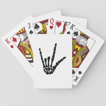 Halloween Themed Skeleton Love Hand Halloween Funny Gift Playing Cards