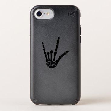 Halloween Themed Skeleton Love Hand Halloween Funny Gift Speck iPhone Case