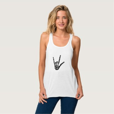 Halloween Themed Skeleton Love Hand Halloween Funny Gift Tank Top