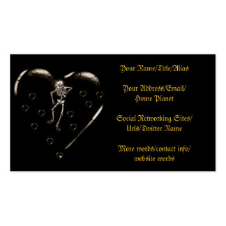 Skeleton Love Hearts Business Card