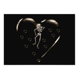 Skeleton Love Hearts Card