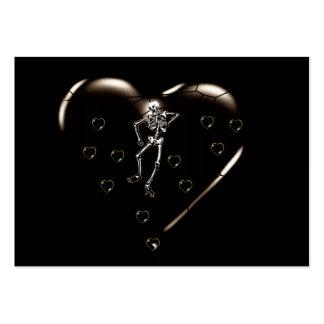 Skeleton Love Hearts Large Business Card