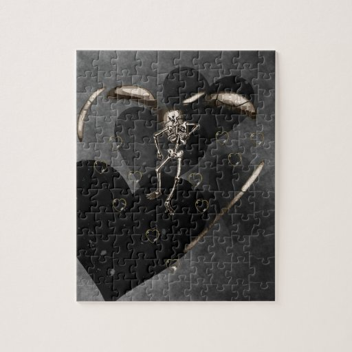 Skeleton Love Hearts Puzzles
