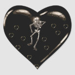 Skeleton Love Hearts Sticker