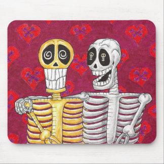 skeleton love mosepad mouse pad