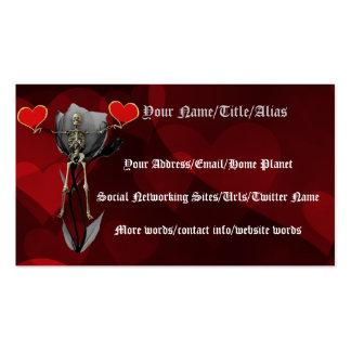 Skeleton Love Valentine Business Card