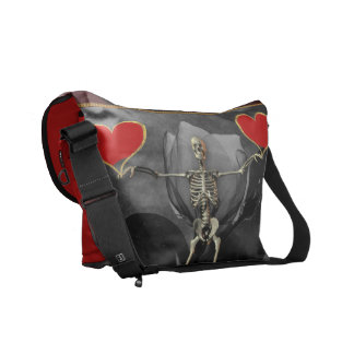 Skeleton Love Valentine Courier Bag
