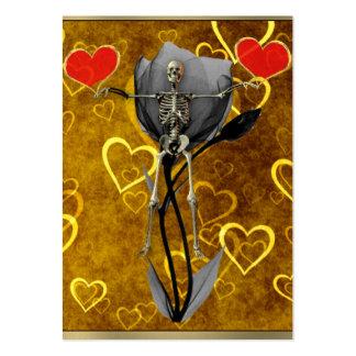 Skeleton Love Valentine Large Business Card