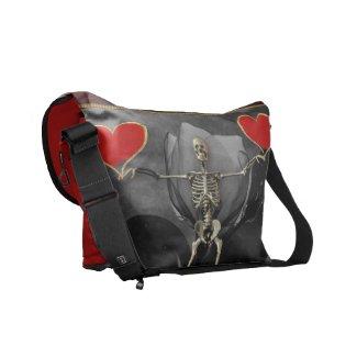 Skeleton Love Valentine rickshawmessengerbag