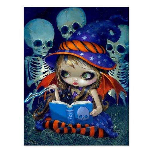 """Skeleton Magic"" Postcard"
