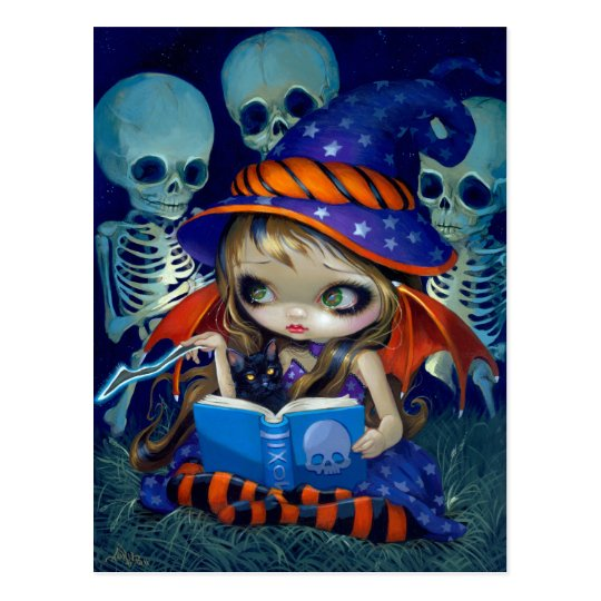 """Skeleton Magic"" Postcard"