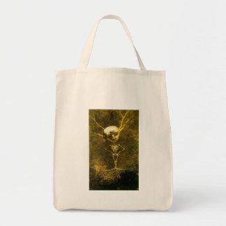 Skeleton Man by Odilon Redon Canvas Bags