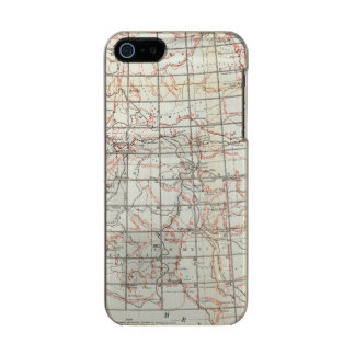 Skeleton Map Metallic Phone Case For iPhone SE/5/5s