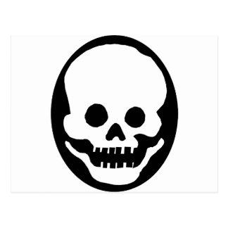 Skeleton Mask Postcard