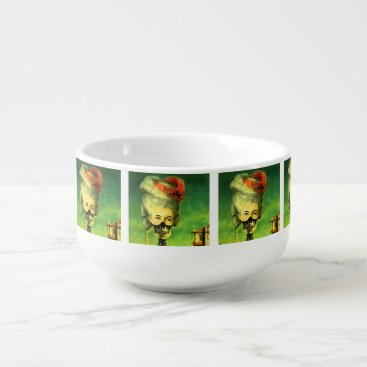 Halloween Themed Skeleton Masked Mug with soup