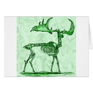 skeleton moose card