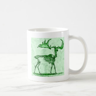 skeleton moose coffee mug