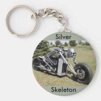 Skeleton motorcycle keychain