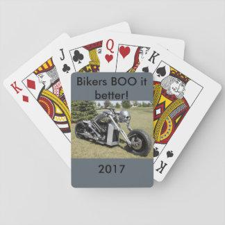 Skeleton Motorcycle Playing Cards