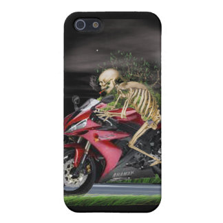skeleton,motorcycle rider cover for iPhone SE/5/5s