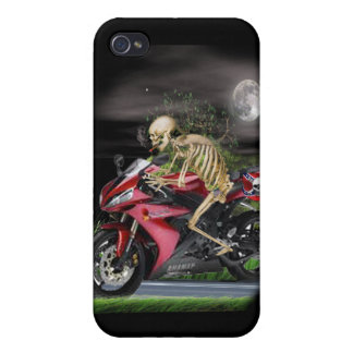 Skeleton Motorcycle rider iPhone 4/4S Case