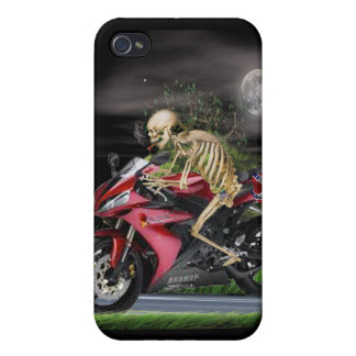 Skeleton Motorcycle rider iPhone 4 Cover