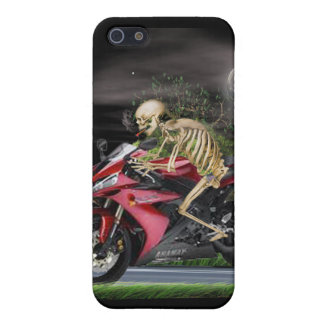 skeleton,motorcycle rider iPhone SE/5/5s case