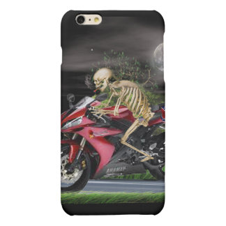 skeleton motorcycle rider matte iPhone 6 plus case