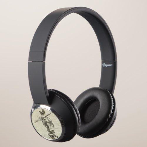 Skeleton Musicians Headphones