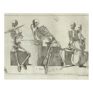 Skeleton Musicians Panel Wall Art