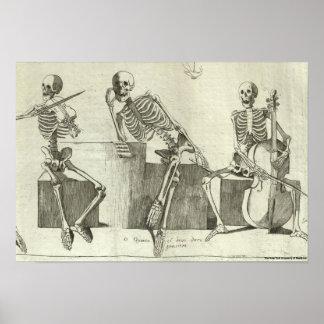 Skeleton Musicians Poster