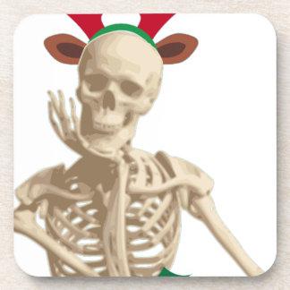 skeleton nightmare christmas drink coaster