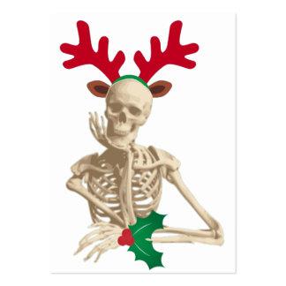 skeleton nightmare christmas large business card