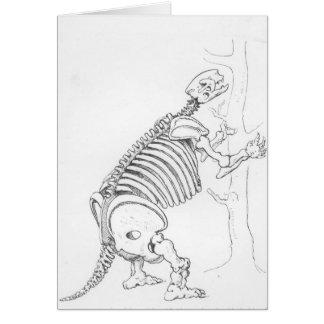 Skeleton of a Mylodon Greeting Card