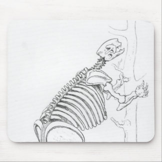Skeleton of a Mylodon Mouse Pad