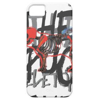 Skeleton of pug iPhone SE/5/5s case