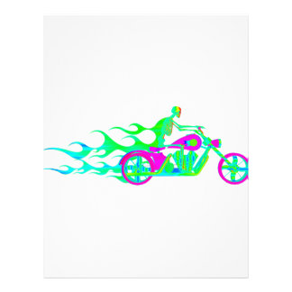 Skeleton on a Motorcycle Letterhead