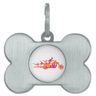 Skeleton on a Motorcycle Pet ID Tag