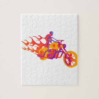 Skeleton on a Motorcycle Puzzle